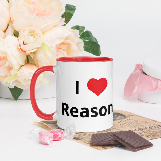 I Love Reason Mug with Color Inside