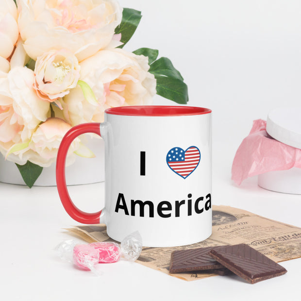 I Love America Mug with Color Inside