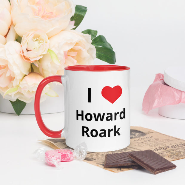 I Love Howard Roark Mug with Color Inside