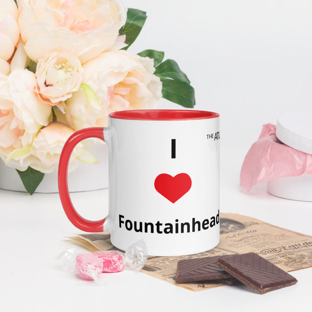I Love Fountainhead Mug with Color Inside
