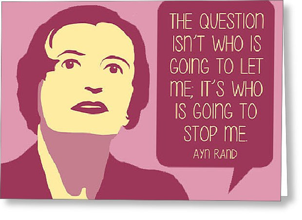 Who Is Going To Stop Me - Greeting Card
