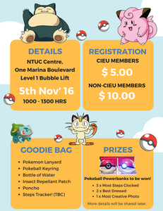 Things to do this weekend - CIEU Pokemon Charity Walk