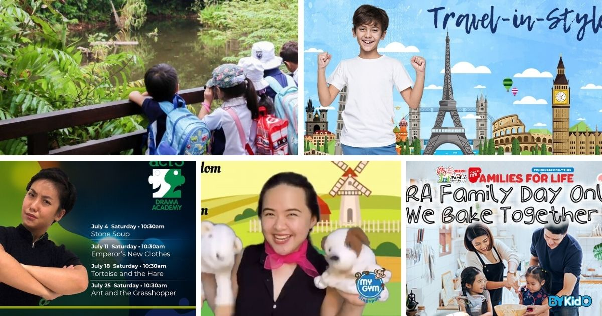 5 Things to do and Places to go with Kids this weekend in Singapore (20th - 26th Jul 2020)