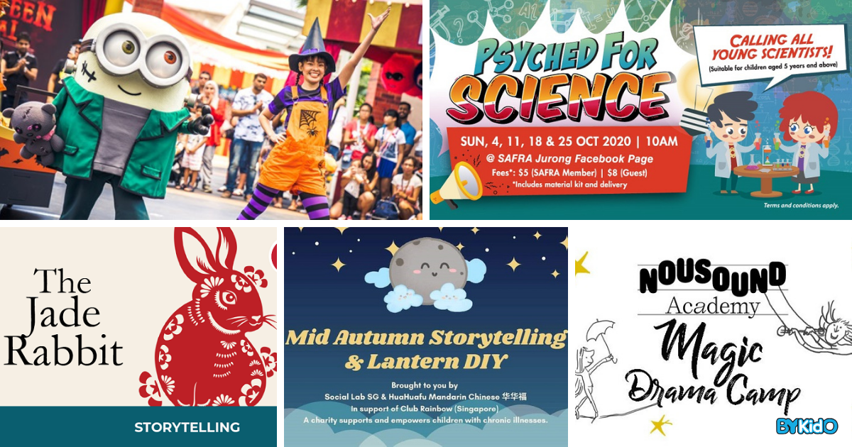5 Things to do and Places to go with Kids this weekend in Singapore (21st - 27th Sep 2020)