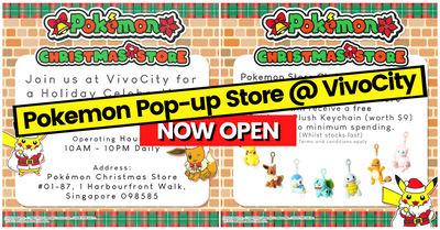 Pokemon Christmas Store To Open At VivoCity Singapore From 7th Nov to 26th Dec!