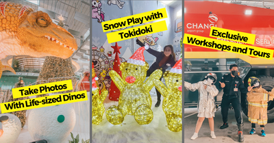 The Changi Festive Village With Dinosaurs and tokidoki-themed Activities!