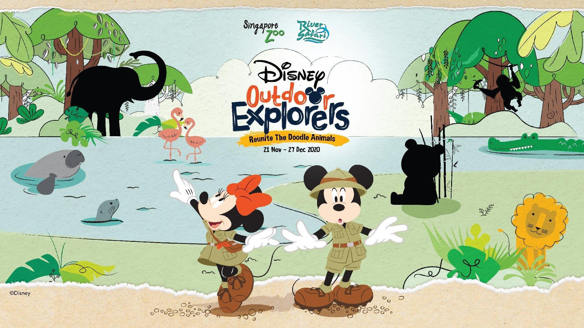 Disney's Mickey Mouse and Minnie Mouse Visits Singapore Zoo and River Safari this School Holidays!