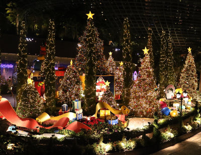 "Things to do: Be Mesmerized by ""Poinsettia Wishes Featuring Disney Tsum Tsum"" Floral Display at Gardens by the Bay!"