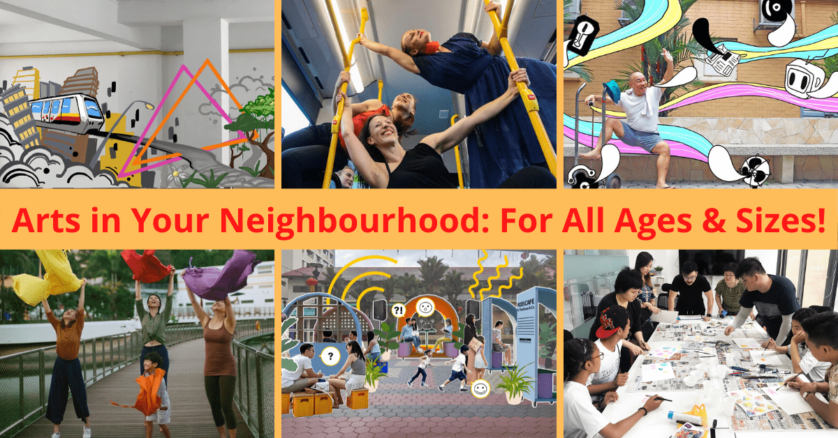Arts in Your Neighbourhood returns this March holidays with over 40 arts activities for everyone to enjoy!