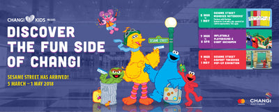 Things to do this Weekend: Visit Sesame Street with Your Little Ones @ Changi Airport!