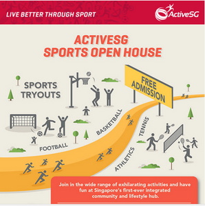 Places to go this Weekend - ActiveSG Sports Open House @ Our Tampines Hub