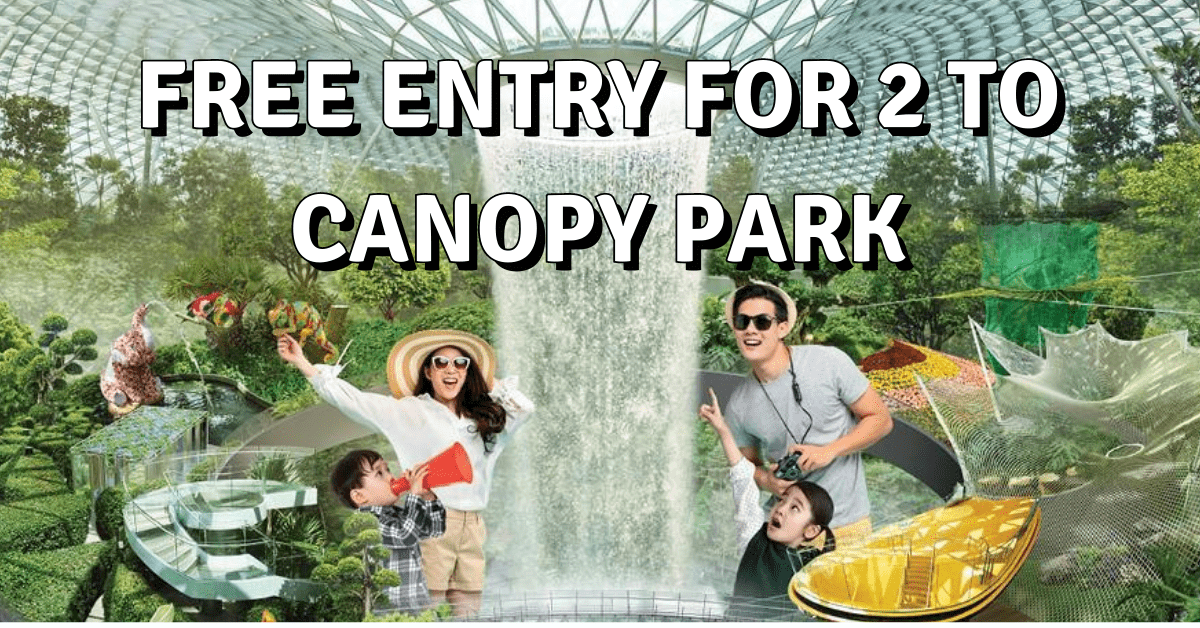 Jewel Changi Airport: Free Entry To Canopy Park For 2 With Any Purchase | Till 30 Sep 2020