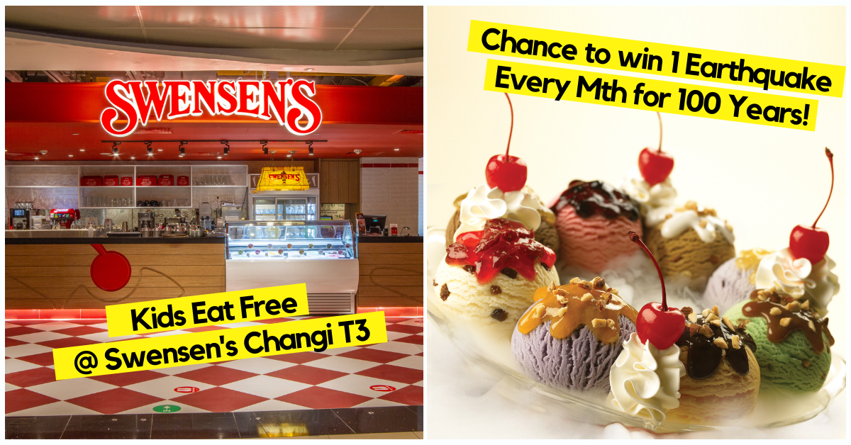 Win A Lifetime Of Swensen's Signature Earthquake At The Newest Outlet At Changi Airport Terminal 3, Worth $33,615.12!
