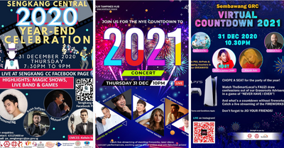 Countdown to 2021 with 16 People's Association Virtual Countdown Events!