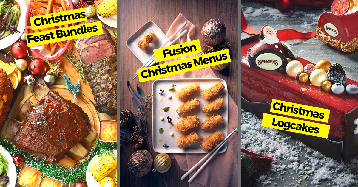 Christmas Feasting in Singapore 2020 | Festive Dinners, Brunches, Delivery and More