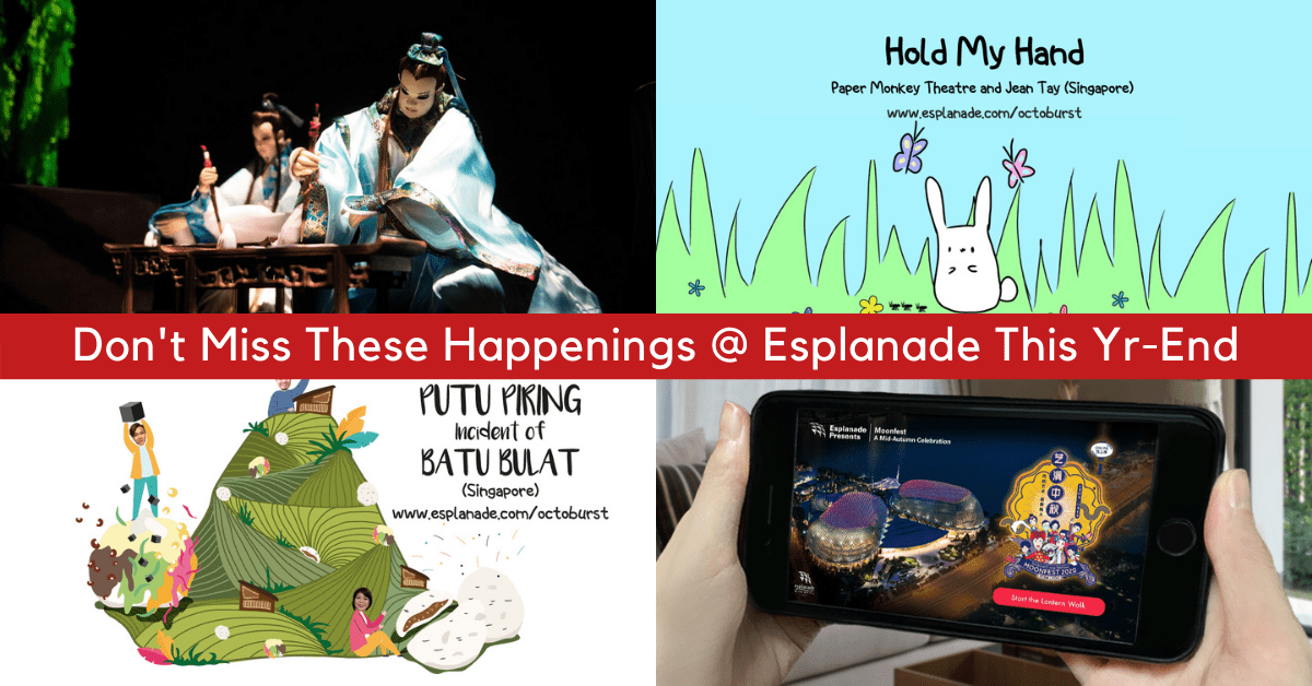 Family-friendly Festivals At Esplanade You Don't Want To Miss Before 2020 Ends