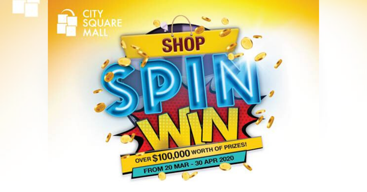 Spin and Sure-Win $10 Vouchers from Airzone, Golden Village, Toys 'R' Us and more at City Square Mall!