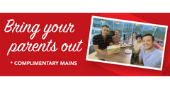 Parents Eat For Free at Swensen's till Feb 29 | Bring Your Parents Out