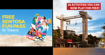 Sentosa is Giving Away Free Fun Pass with 10 Tokens | 18 Activities that is now Free!