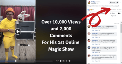 Catch The Popular Mr. Egg Magic Show Online For Free on Facebook Live!