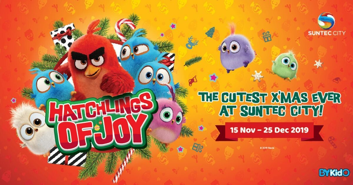 Cutest X'Mas Ever at Suntec City | Stars of The Angry Birds Descend Upon Suntec City!