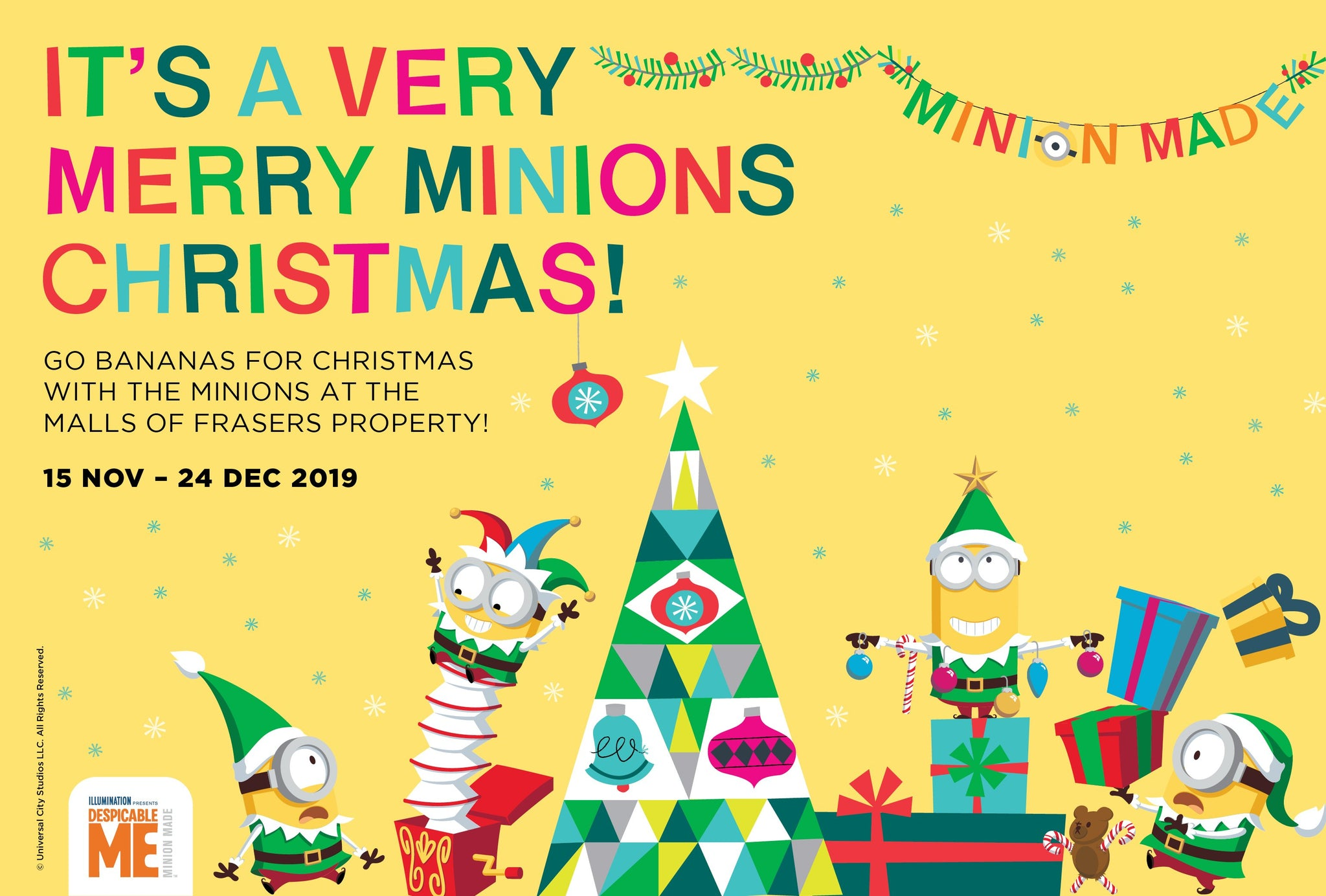 Its a Very Merry Minions Christmas @ Malls of Frasers Property | December 2019