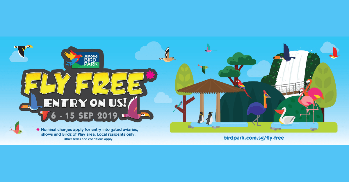 Free Admission to Jurong Bird Park this Sep Holidays | 6 - 15 Sep 2019