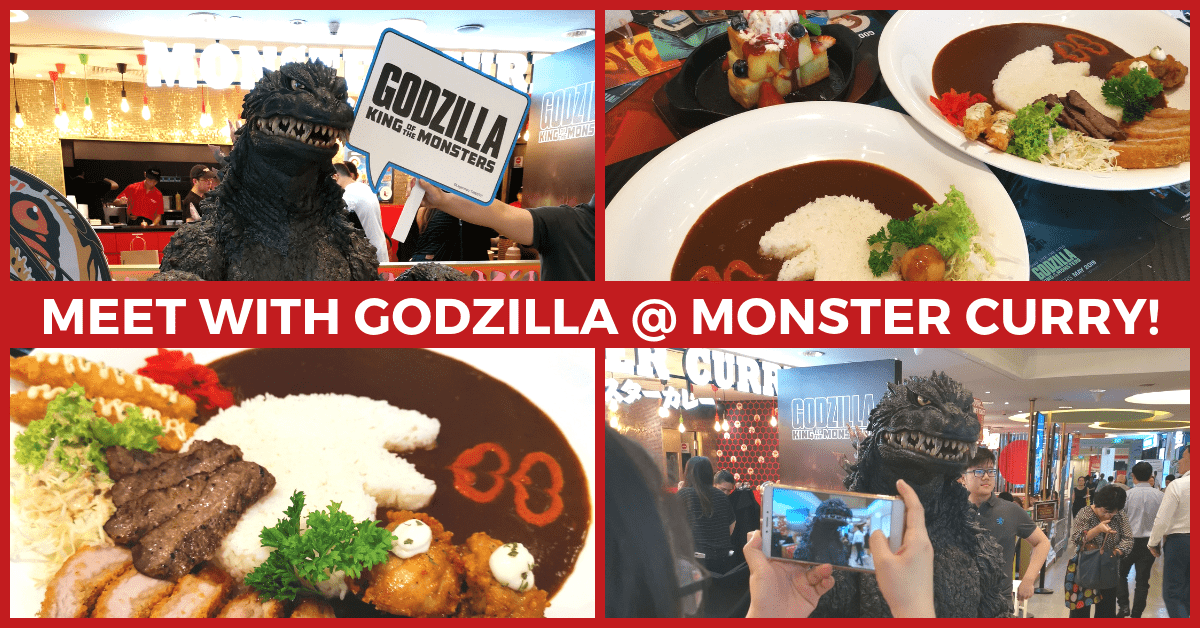 Meet & Greet with Godzilla @ Monster Curry Singapore | The King of the Monsters!