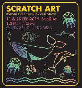 Things to do this Weekend: Bring Your Kid Out for a Session of Scratch Art @ Hill Street Coffee Shop!