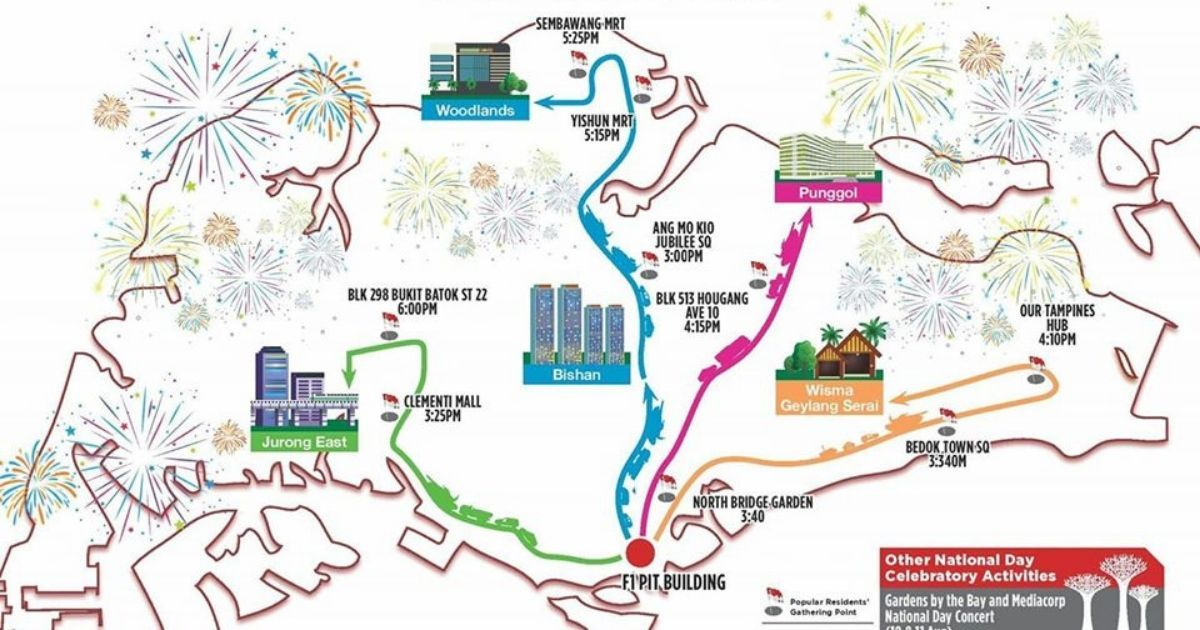 NDP 2019 Mobile Column @ Heartlands – Detailed Routes and