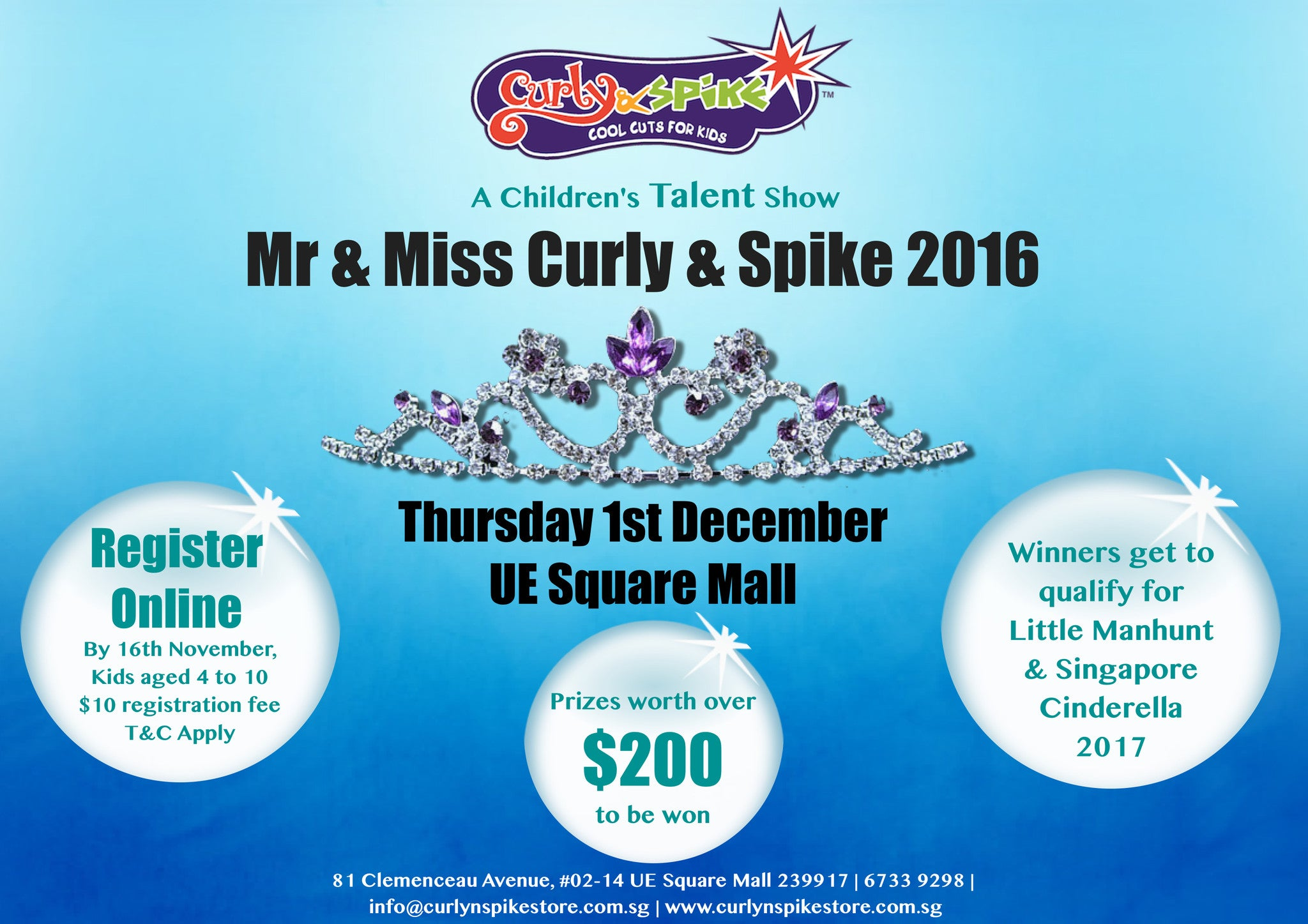 Things to do this Weekend - Mr & Miss Curly & Spike 2016
