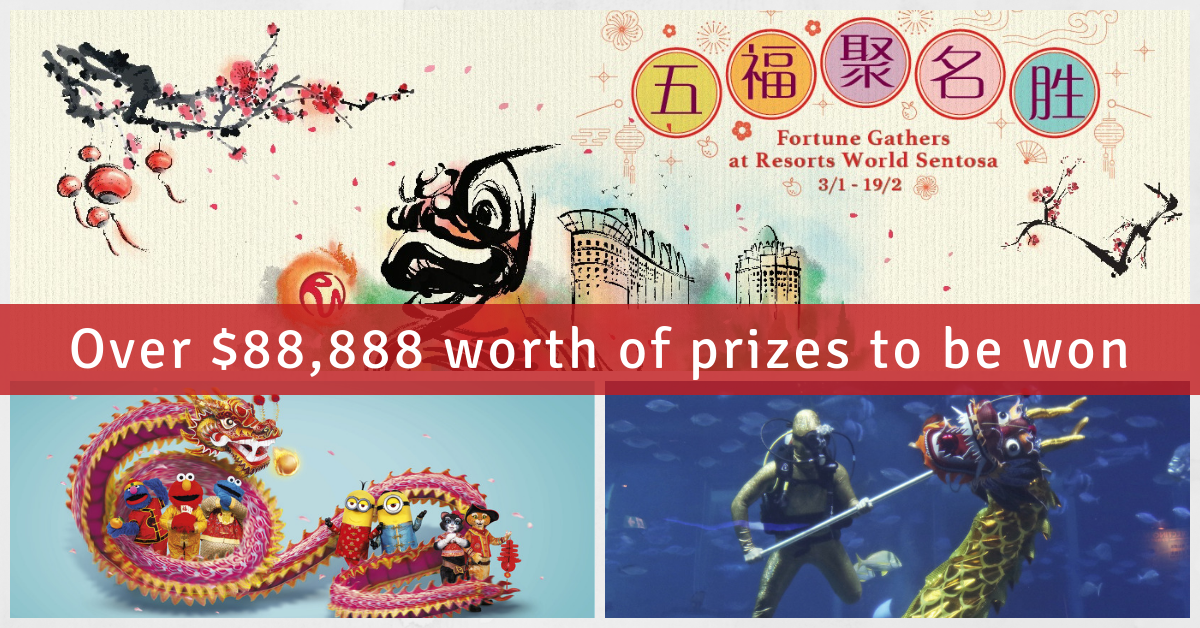 Ring in a prosperous Year of the Boar at Resorts World Sentosa's Fortune Gathers!