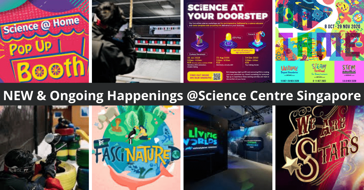 September 2020 School Holiday Programmes at Science Centre Singapore