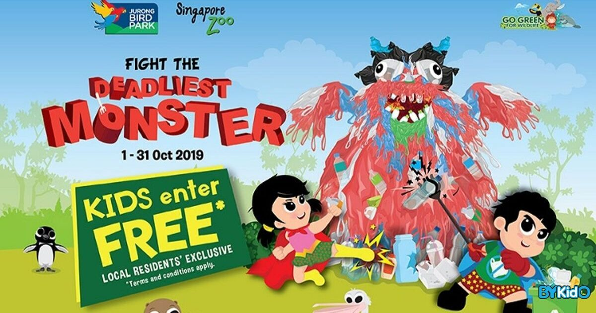 Singapore Zoo & Jurong Bird Park in October | Fight the Deadliest Monster + Free Entry for Kids