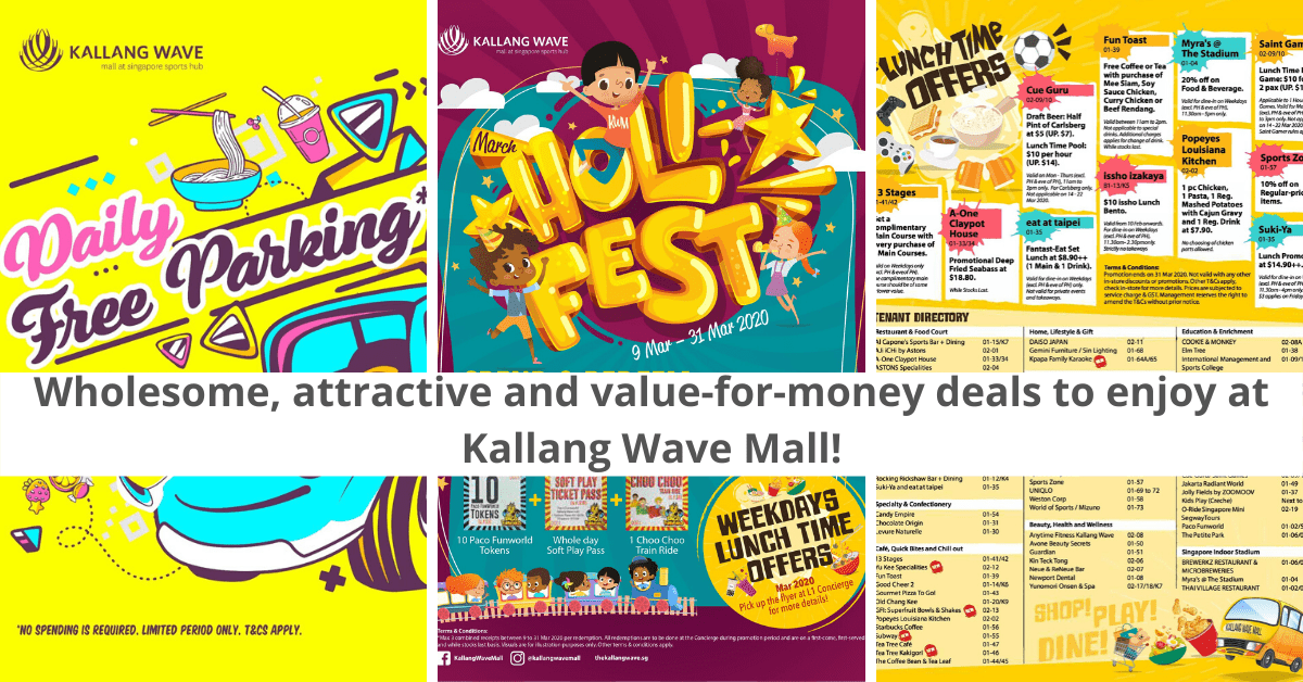 Family-Friendly Promotions At Kallang Wave Mall | Free Parking, Discounts and More!