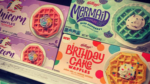 Unicorn and Mermaid Waffles That Taste Like Cotton Candy From Kellogg's