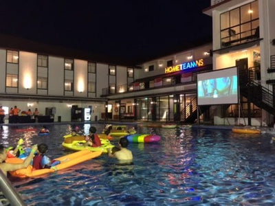 Things to do this Weekend: Get in the Pool and watch a Movie!