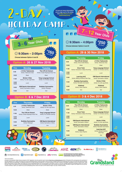 Things to do: 2-Day Holiday Camp @ The Grandstand