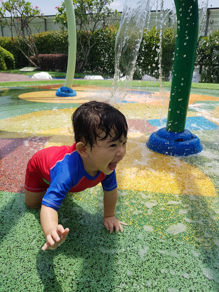 BYKidO Moments: Mummy Leona's Visit to Tampines One's Wet Playground