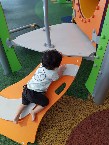 BYKidO Moments: Mummy Leona and Little Baby L Visit Suntec City Playground for Playtime!