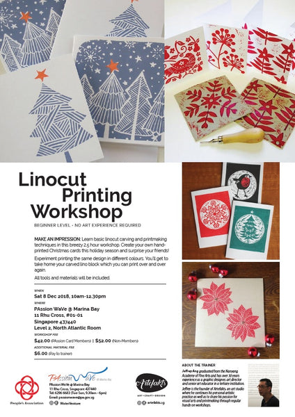 5 Things happening @ PAssion WaVe & Water Venture this School Holidays - Linocut Printmaking