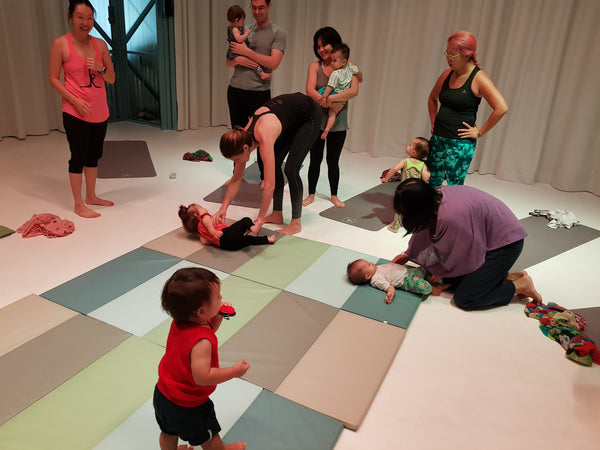 BYKidO Moments: Mummy L and Little L's Baby Yoga Friday @ The Artground!