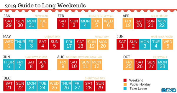 Singapore Public Holidays 2019: Your Gateway to Enjoying Long Weekends