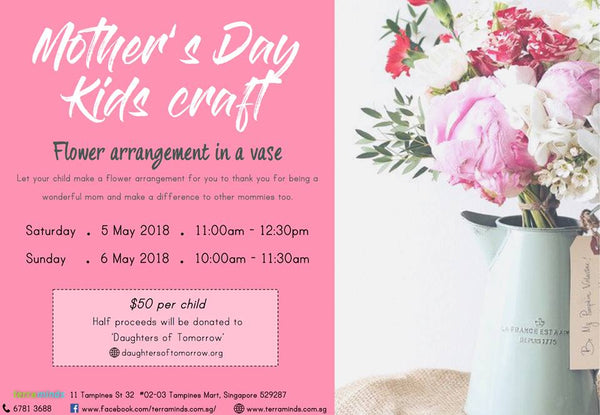 Things to do this Weekend: 5 Crafts for Little Ones to Create this Mother's Day! - Flower Arrangement at Terra Minds
