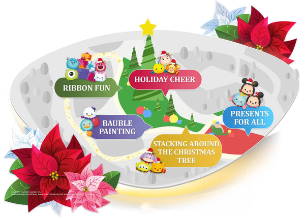 Disney Tsum Tsum Poinsettia Gardens by the Bay
