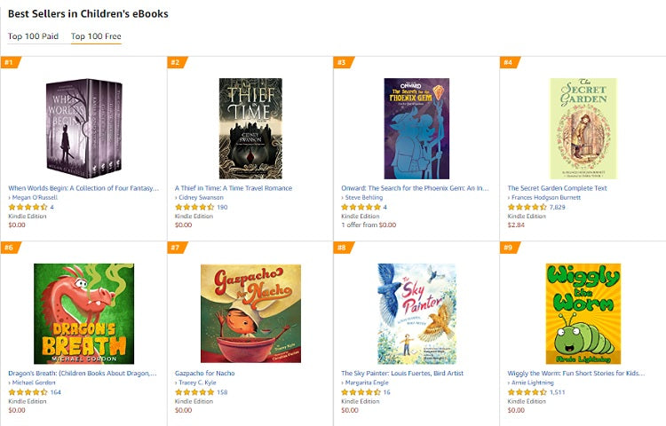Places to Find Free Children's Ebooks for Kids of Different Ages - Amazon
