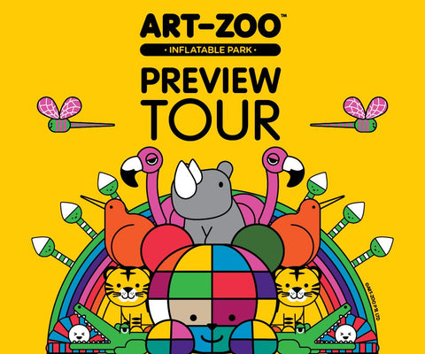 Things to do this Weekend: Bring Your LOs & Sneak a Peek at the Art-Zoo Inflatable Park with a Preview Tour!