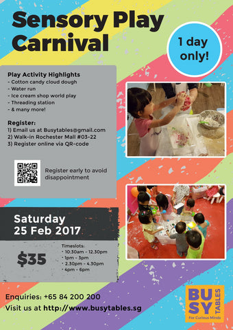 Busy Tables Sensory Play Carnival