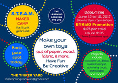 S.T.E.A.M Camp with The Tinker Yard