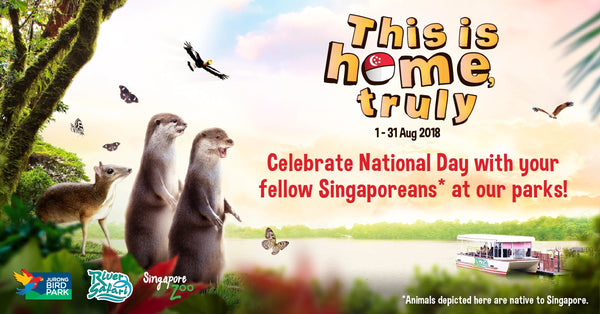 Celebrate the nation's 53rd birthday with the wildlife park's fellow Singaporeans